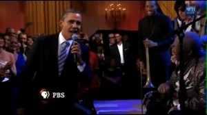 Pres. Obama Sings With B.B. King