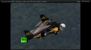 Jet!: Man Flies Over Rio With a Jetpack