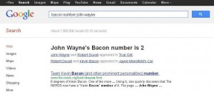 "Google Saves the Planet By Adding ""Bacon Number"" Function"