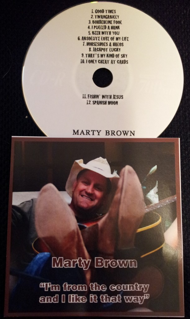 Three CDs of New Music from Marty Brown!