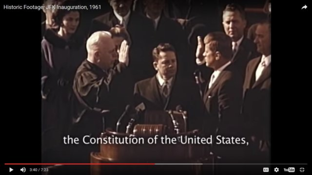 John F. Kennedy Inauguration and Robert Frost