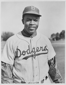 Jackie Robinson Takes the Field