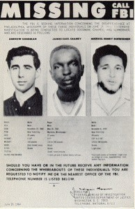 Three Missing Civil Rights Workers in 1964 Mississippi