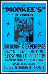 Jimi Hendrix Opens for The Monkees
