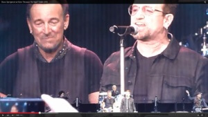 "Springsteen and Bono Sing ""Because the Night"" in Dublin"