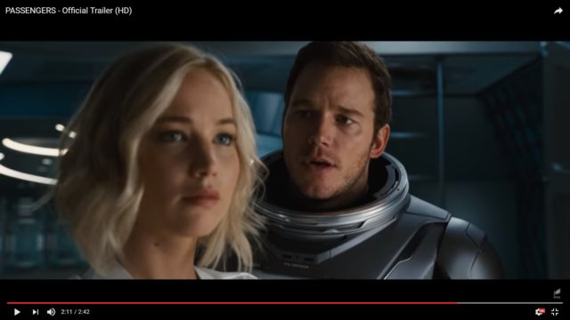"Jennifer Lawrence and Chris Pratt Travel Space in ""Passengers"""