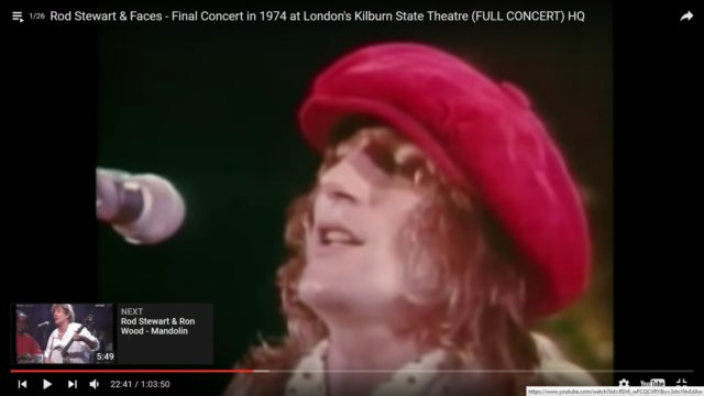 Final UK Concert of Rod Stewart & The Faces in 1974