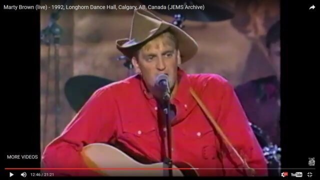 Marty Brown Live in Calgary 1992