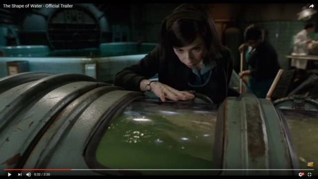 "Trailer for Guillermo Del Toro's ""The Shape of Water"""