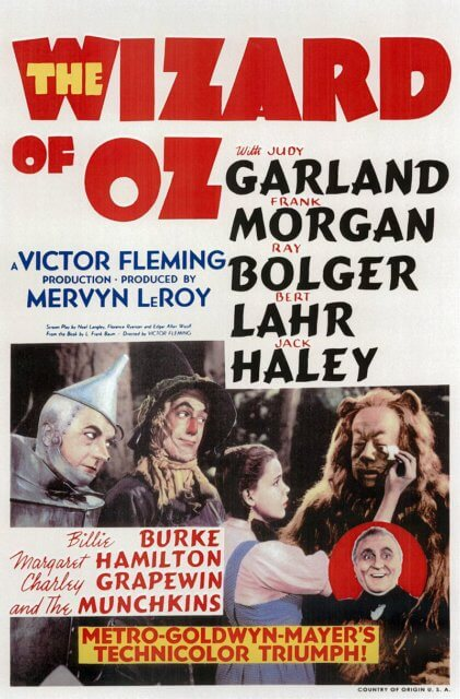 The Wizard of Oz Opens: August 25, 1939