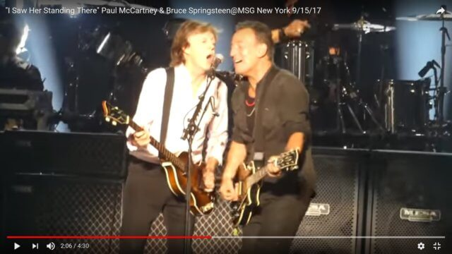 """Paul McCartney & Bruce Springsteen: """"I Saw Her Standing There"""""""